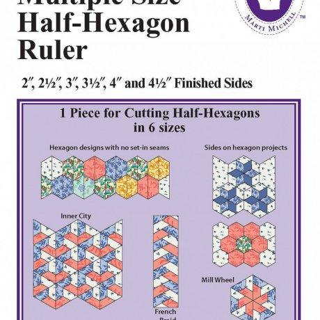 8282	Multiple Half-Hexagon Ruler