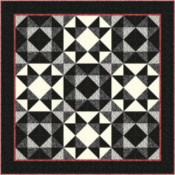RED AND BLACK QUILT -  PTN5004