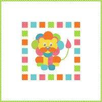 LION CUB (applique) -  PTN5008