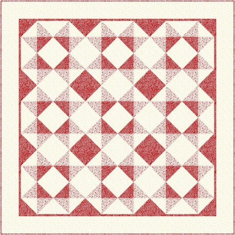 RED AND WHITE QUILT -  PTN5002